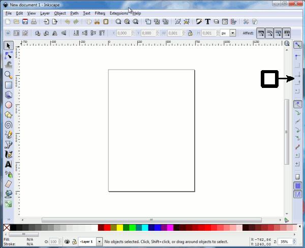 Inkscape. Панель прилипания