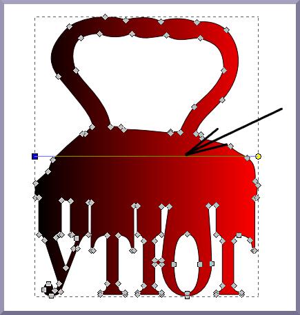 Inkscape: Рычаг градиента