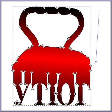 Inkscape: Установка рычага градиента