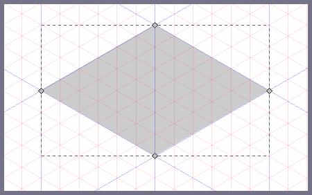 Inkscape: рисуем верхнюю грань куба