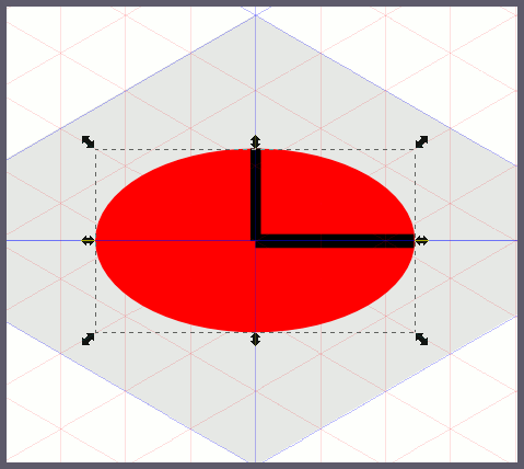 Inkscape: эллипс