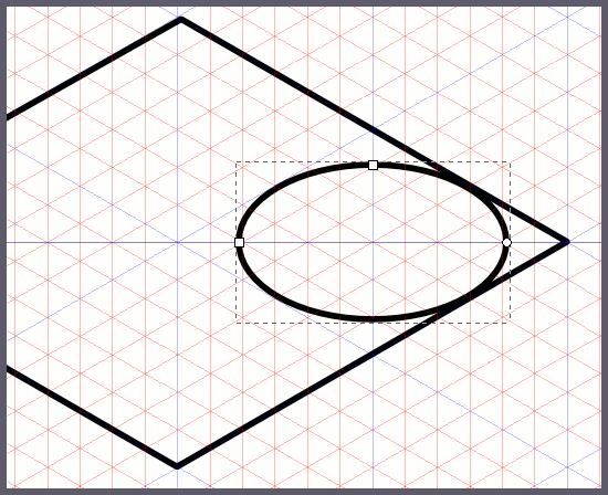 Inkscape: малый эллипс