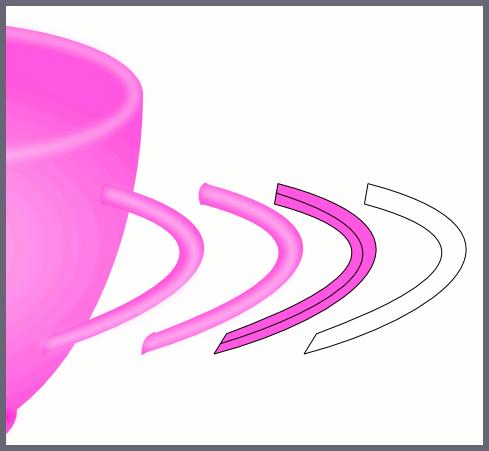 Inkscape: Этапы изображения ручки чашки