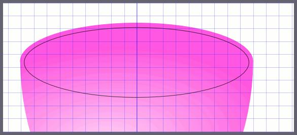 Inkscape: Подгонка контура края чашки