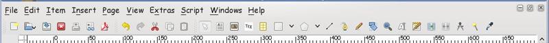 Scribus - Панель инструментов