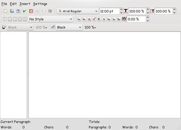 Scribus - Story Editor