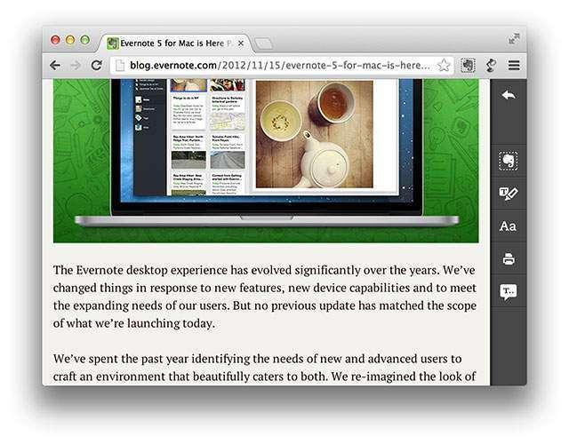 Evernote Clearly - удобно читайте в Google Chrome - LINUX